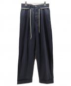 Maison Margiela14(メゾンマルジェラ14)の古着「WIDE TUCK CHINO PANT」|ネイビー