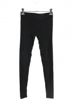 RICK OWENS(リックオウエンス)の古着「バイカーレギンスパンツ」|ブラック