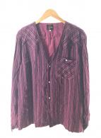 ()の古着「V NECK COWBOY SHIRT」 ピンク