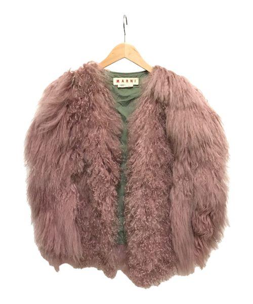 MARNI(マルニ)MARNI (マルニ) ボリュームラムファーベスト ピンク サイズ:40の古着・服飾アイテム