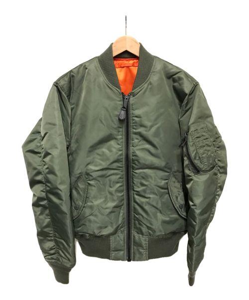 AVIREX(アヴィレックス)AVIREX (アヴィレックス) MA-1ジャケット グリーン サイズ:Mの古着・服飾アイテム