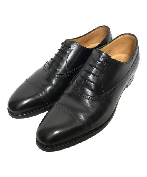 JOHN LOBB(ジョンロブ)JOHN LOBB (ジョンロブ) 内羽根ストレートチップシューズ ブラック サイズ:9Eの古着・服飾アイテム