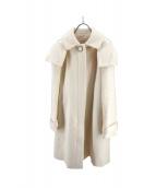 Maglie par ef-de(マーリエパーエフデ)の古着「フーデッドコート」|アイボリー