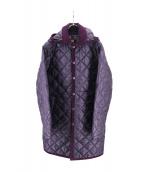 LAVENHAM(ラベンハム)の古着「キルティングコート」|パープル