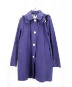 Traditional Weatherwear(トラディショナル ウェザーウェア)の古着「ステンカラーコート」|ネイビー