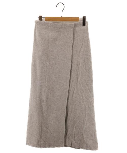 RIM.ARK(リムアーク)RIM.ARK (リムアーク) ラップベルトロングスカート グレー サイズ:38の古着・服飾アイテム