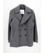 MACKINTOSH PHILOSOPHY(マッキントッシュフィロソフィー)の古着「WフェイスメルトンPコート」|グレー