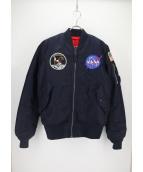 ALPHA(アルファ)の古着「MA-1ジャケット」 ネイビー