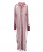 Jean Paul Gaultier FEMME(ジャンポールゴルチェ フェム)の古着「ブラウスワンピース」|レッド