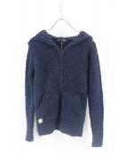 Barefoot dreams(ベアフットドリームス)の古着「cozychic long zipped hoodie」|ネイビー