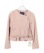 sophila(ソフィラ)の古着「スウェードライダースジャケット」|ピンク
