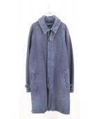 doublet(ダブレット)の古着「ダメージ加工ウールデニムコート」|ブルー