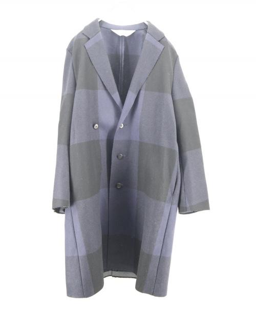 SUNSEA(サンシー)SUNSEA (サンシー) CUT OFF MELTON COAT ネイビー サイズ:3の古着・服飾アイテム
