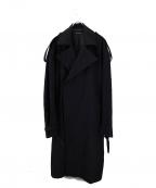 DRESSEDUNDRESSED(ドレスドアンドレスド)の古着「オーバーサイズコート」 ブラック