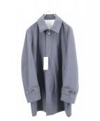 J.PRESS(ジェイプレス)の古着「ナイロンステンカラーコート」|ネイビー