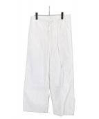 FUMIKA UCHIDA(フミカ ウチダ)の古着「コットンシルクワイドパンツ」|ホワイト