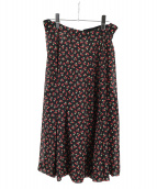 tricot COMME des GARCONS(トリコ コムデギャルソン)の古着「cherry pattern skirt」|ブラック