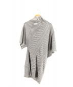 ISSEY MIYAKE(イッセイミヤケ)の古着「変形半袖ニットワンピース」|グレー