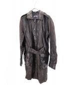 Jean Paul GAULTIER(ジャンポールゴルチェ)の古着「レザーコート」|ブラウン