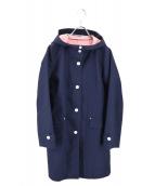HUMAN WOMAN(ヒューマンウーマン)の古着「フーデッドコート」 ネイビー