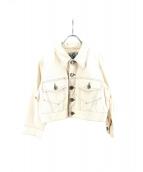 Jean Paul GAULTIER(ジャンポールゴルチェ)の古着「クロップド丈ジャケット」|ホワイト