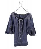 LEE×Vivienne Westwood(リー×ヴィヴィアンウエストウッド)の古着「デザインデニムシャツ」|ブルー