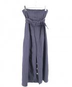 Uhr(ウーア)の古着「リネンストレッチタイトスカート」|ネイビー