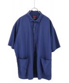 BRU NA BOINNE(ブルーナボイン)の古着「アルゴーショートスリーブシャツ」|ネイビー