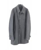 COMME des GARCONS HOMME(コムデギャルソンオム)の古着「ステンカラーコート」|ブラック