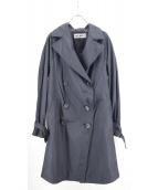ISSEY MIYAKE(イッセイ ミヤケ)の古着「デザイントレンチコート」|ブラック