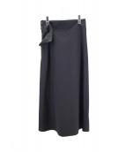 yohji yamamoto+noir(ヨウジヤマモトプリュスノアール)の古着「デザインスカート」|ブラック