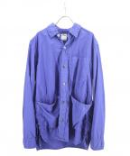 sage de cret(サージュデクレ)の古着「タイプライターSTシャツジャケット」|ブルー