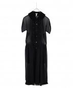 COMME des GARCONS(コムデギャルソン)の古着「ベロア切替ワンピース」|ブラック