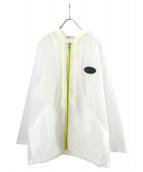 LABRAT(ラブラット)の古着「ビニールパーカー」|ホワイト