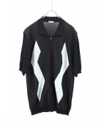 KAIKO(カイコー)の古着「DIA ZIP SHIRT」|ブラック