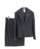 GIANNI VERSACE(ジャンニヴェルサーチ)の古着「カットワークセットアップ」|ブラック