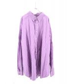 WILLY CHAVARRIA(ウィリー キャバリア)の古着「ストライプビッグシャツ」|パープル