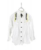 TOGA PULLA(トーガ プルラ)の古着「フリンジコットンボイルシャツ」|ホワイト
