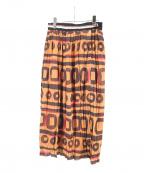 AKANE UTSUNOMIYA(アカネウツノミヤ)の古着「プリーツスカート」 ベージュ