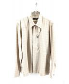 GAULTIER HOMME objet(ゴルチエオムオブジェ)の古着「チェックジャケット」|アイボリー