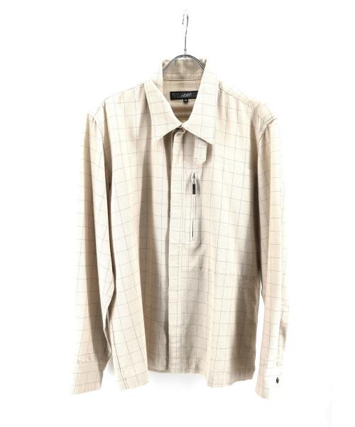 GAULTIER HOMME objet(ゴルティエオムオブジェット)GAULTIER HOMME objet (ゴルティエオムオブジェット) チェックジャケット アイボリー サイズ:46の古着・服飾アイテム