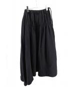 LIMI feu(リミフゥ)の古着「デザインスカート」|ブラック