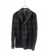 DEPETRILLO(デペトリロ)の古着「チェックテーラードジャケット」|グリーン