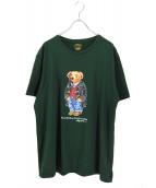 POLO RALPH LAUREN(ポロラルフローレン)の古着「ポロベアプリントTシャツ」|グリーン