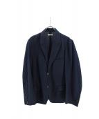 FRANK LEDER(フランクリーダー)の古着「リネン混アンコンジャケット」|ネイビー