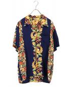 FLAT HEAD(フラットヘッド)の古着「アロハシャツ」|ネイビー