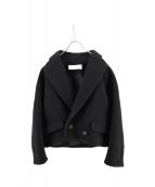 PEGGY LANA(ペギーラナ)の古着「ウールショートコート」|ブラック