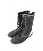 tricot COMME des GARCONS(トリコ コムデギャルソン)の古着「スエードショートブーツ」 ブラック