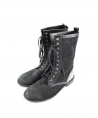 tricot COMME des GARCONS(トリココムデギャルソン)の古着「スエードショートブーツ」 ブラック