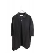 crepuscule(クレプスキュール)の古着「ニットポロシャツ」|ブラック